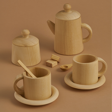 Load image into Gallery viewer, Wooden Natural Tea Set