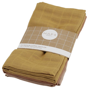 Muslin Cloths, Warm Solid