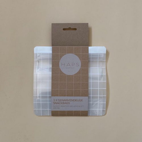 Reusable Snack Bag, Check - 400 ml