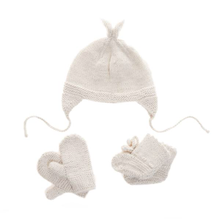 Load image into Gallery viewer, Baby Alpaca Mittens - Cream