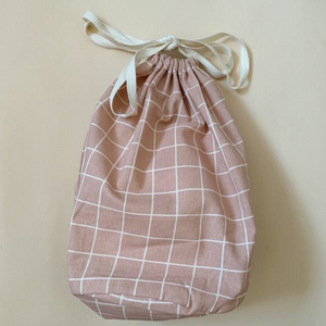 Large Multi Bag, Rose Check