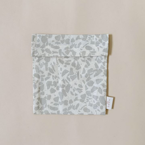 Reusable Sandwich Bag, Oyster Grey Terrazzo