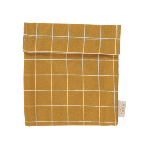Reusable Sandwich Bag, Mustard Check