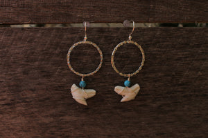 Hammered Hoop Dangles