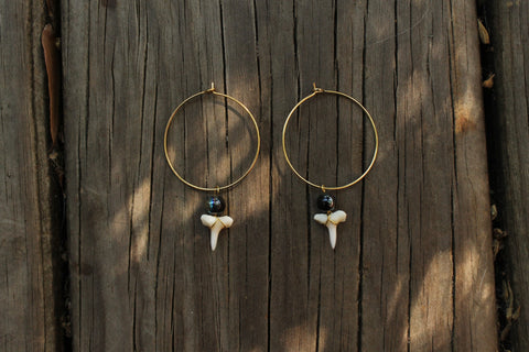 Black Tip Hoops
