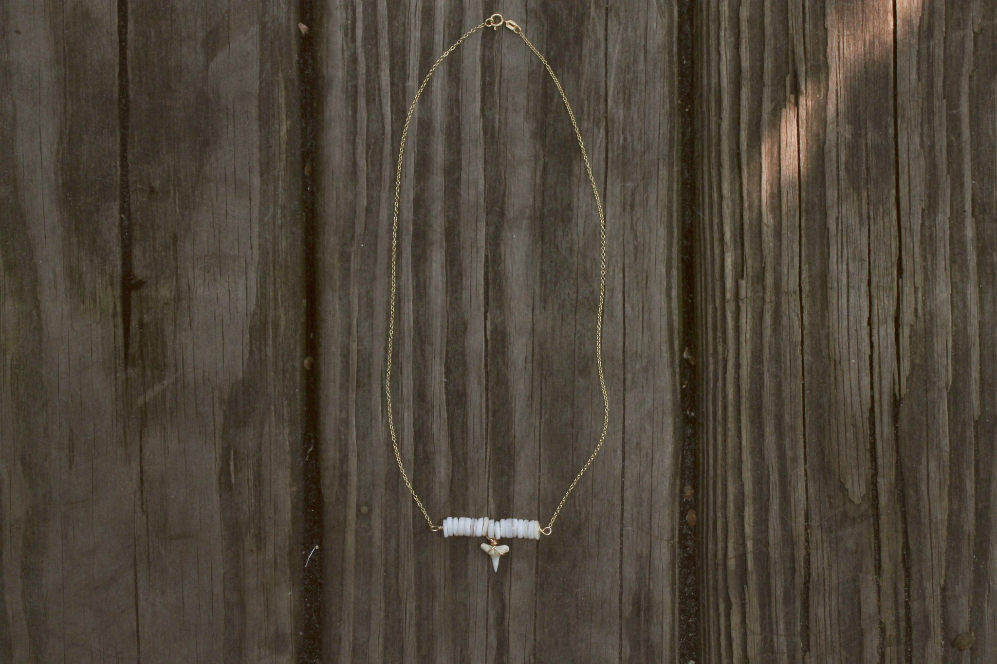 Black Tip Bar Necklace