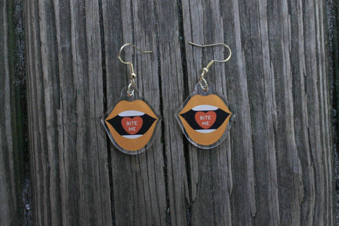 Bite Me Pendant Earrings