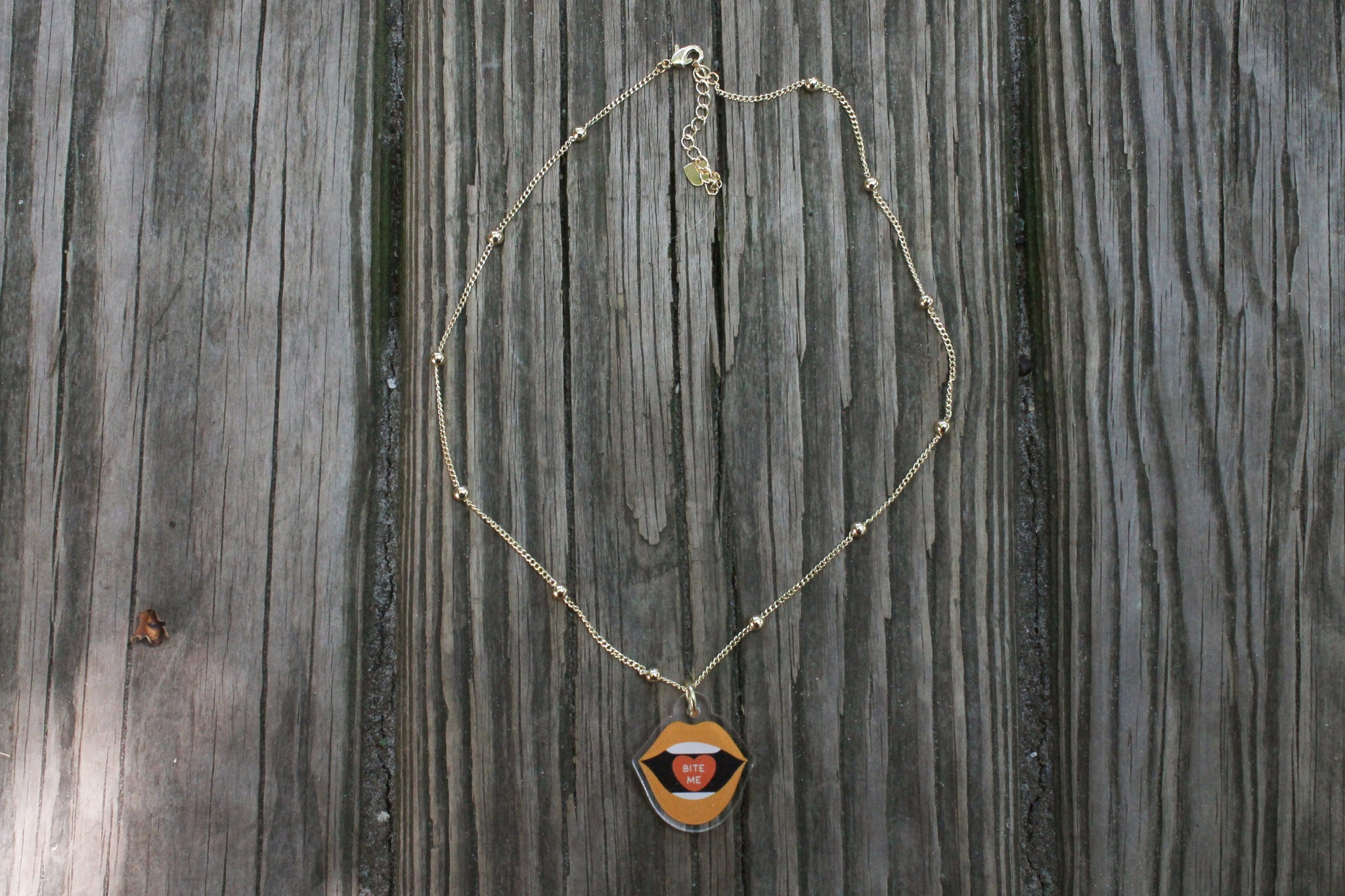 Bite Me Pendant Necklace