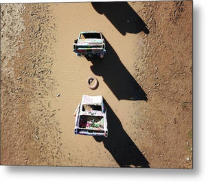 Cadillac Ranch - Metal Print