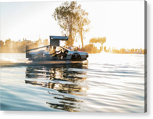 Delorean Hovercraft  - Acrylic Print