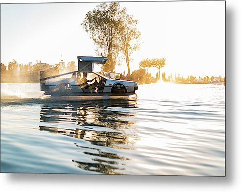 Delorean Hovercraft  - Metal Print