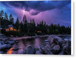 Lightning Strikes - Canvas Print