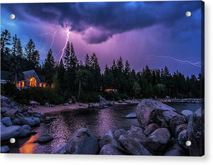 Lightning Strikes - Acrylic Print