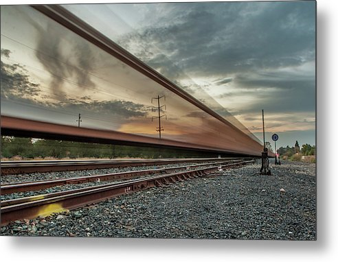 Train Tracks - Metal Print
