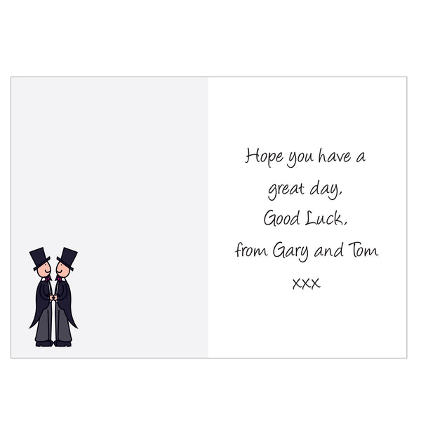 Personalised Cartoon Male Partnership Card white background