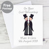 Personalised Cartoon Male Partnership Card