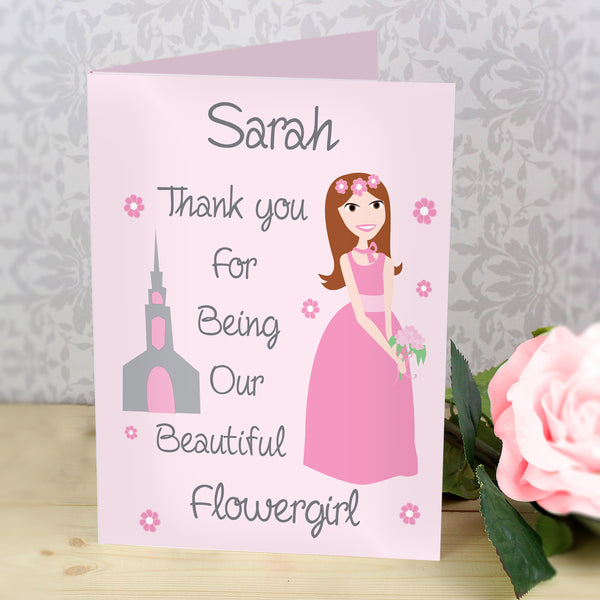 Personalised Fabulous Bridesmaid Card from Sassy Bloom Gifts - alternative view