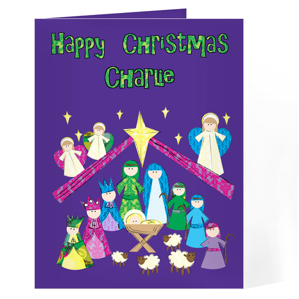 Personalised Nativity Card white background