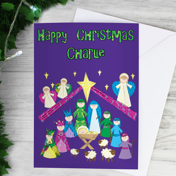 Personalised Nativity Card lifestyle image