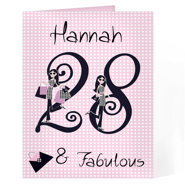 Personalised Fabulous Numbers Card white background