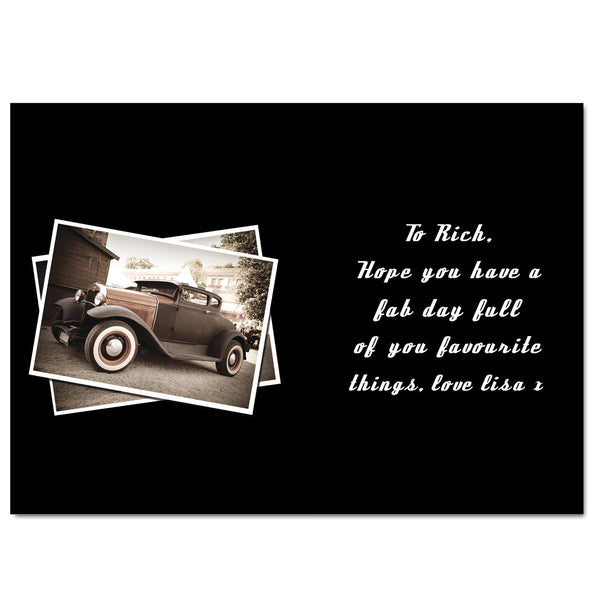 Personalised Classic Car Card from Sassy Bloom Gifts - alternative view