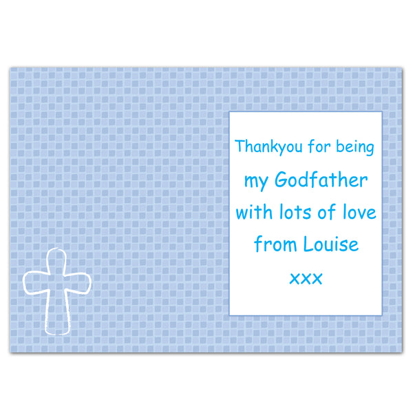 Personalised Blue Cross Card from Sassy Bloom Gifts - alternative view