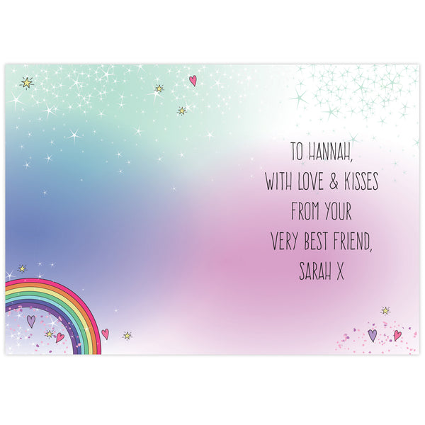 Personalised Unicorn Card from Sassy Bloom Gifts - alternative view