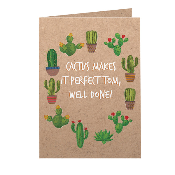 Personalised Cactus Card white background