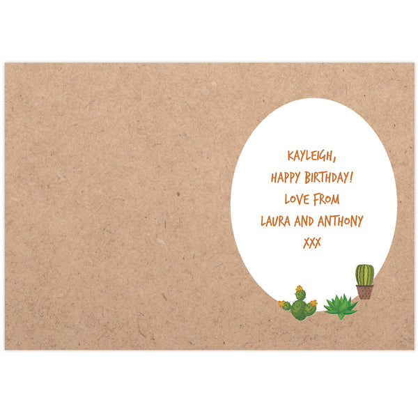 Personalised Cactus Card from Sassy Bloom Gifts - alternative view