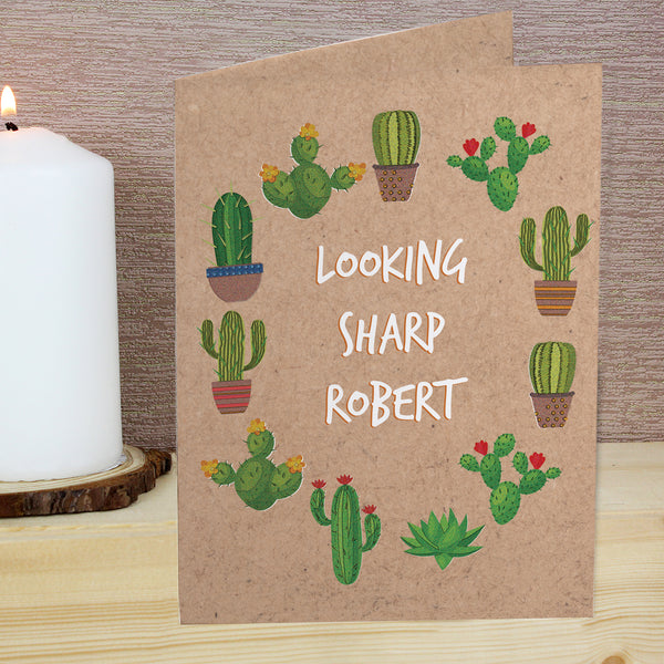 Personalised Cactus Card