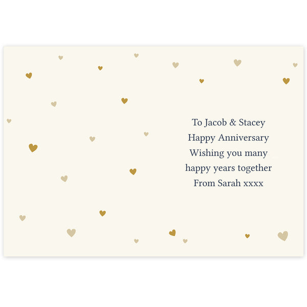 Personalised Gold Confetti Heart Card from Sassy Bloom Gifts - alternative view