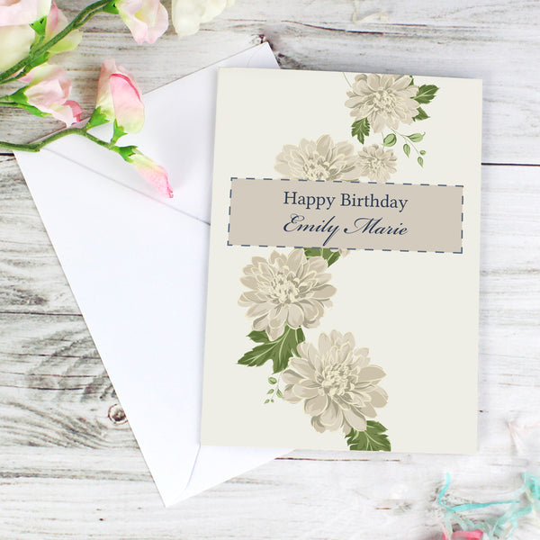 Personalised Gold Floral Card lifestyle image