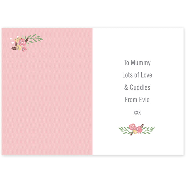 Personalised Floral Bouquet Mother's Day Card lifestyle image