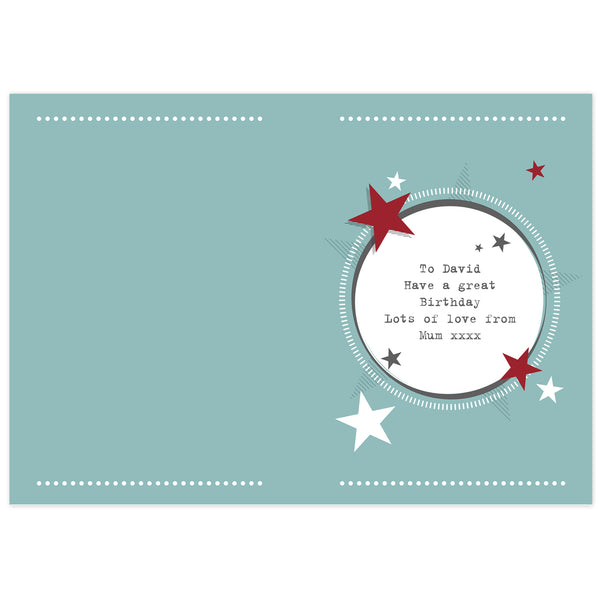 Personalised 50s Retro Card from Sassy Bloom Gifts - alternative view