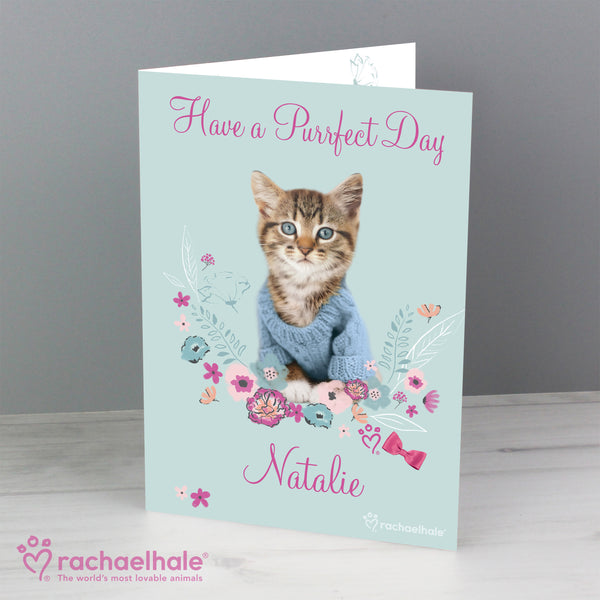 Personalised Rachael Hale Cute Kitten Card with personalised name