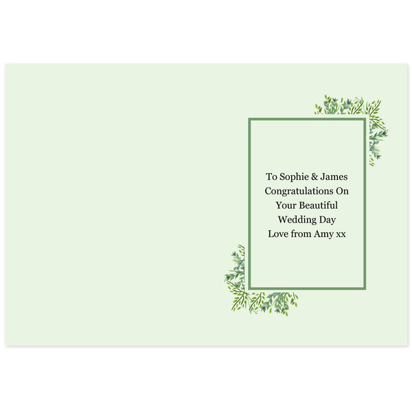 Personalised Fresh Botanical Card from Sassy Bloom Gifts - alternative view