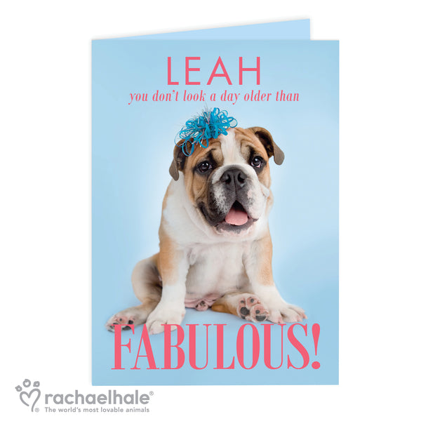 Personalised Rachael Hale Fabulous Birthday Card white background