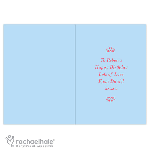 Personalised Rachael Hale Fabulous Birthday Card from Sassy Bloom Gifts - alternative view