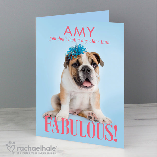 Personalised Rachael Hale Fabulous Birthday Card lifestyle image