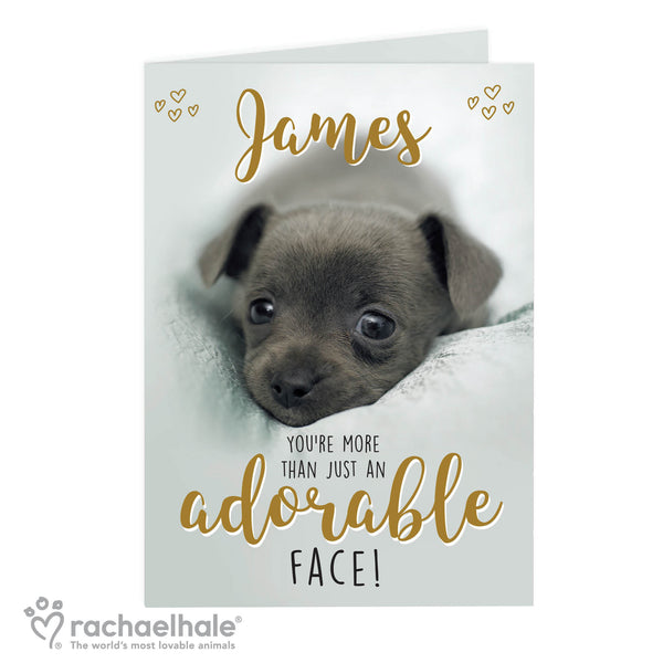 Personalised Rachael Hale Adorable Face Card white background