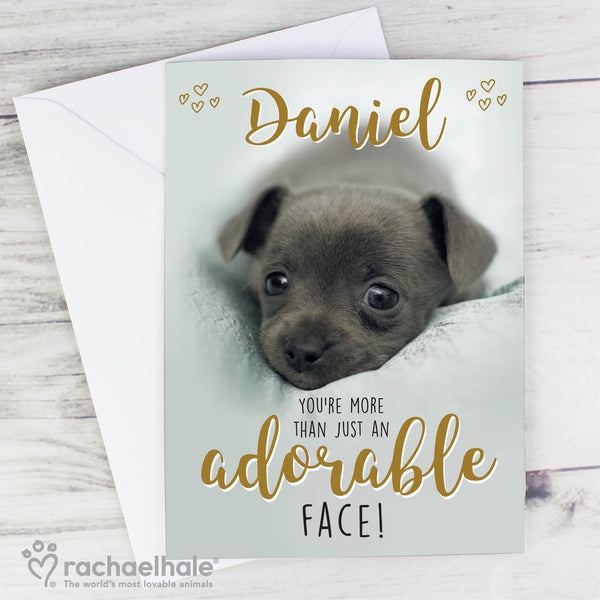 Personalised Rachael Hale Adorable Face Card with personalised name
