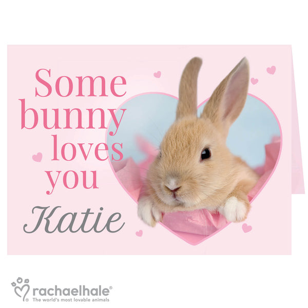 Personalised Rachael Hale 'Some Bunny' Card white background
