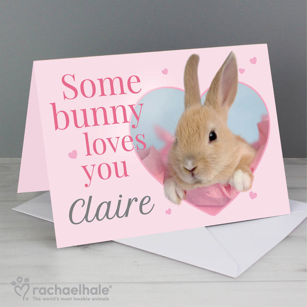 Personalised Rachael Hale 'Some Bunny' Card with personalised name
