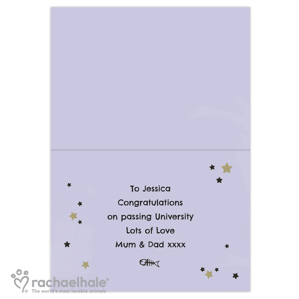Personalised Rachael Hale Youre the Cats Whiskers Card from Sassy Bloom Gifts - alternative view