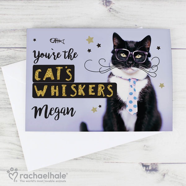 Personalised Rachael Hale Youre the Cats Whiskers Card lifestyle image