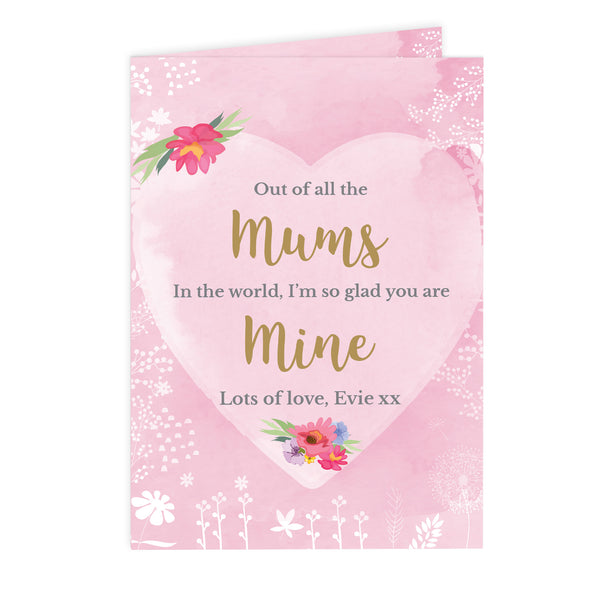 Personalised Floral Watercolour Card white background