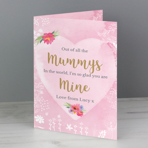 Personalised Floral Watercolour Card from Sassy Bloom Gifts - alternative view