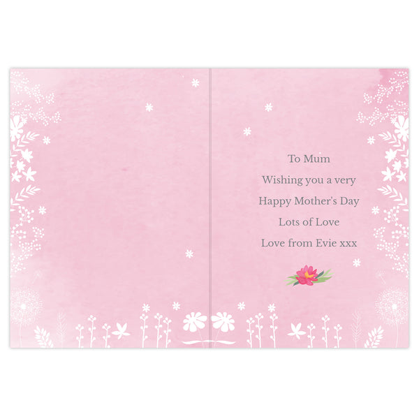 Personalised Floral Watercolour Card lifestyle image