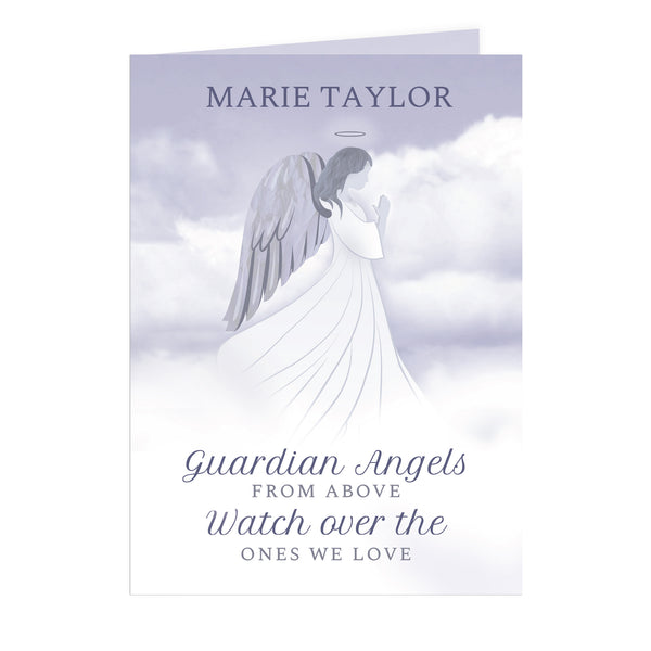 Personalised Guardian Angel Card white background