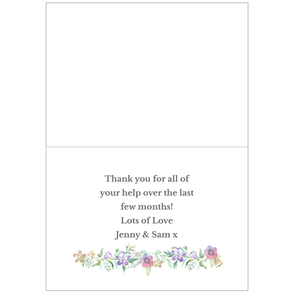 Personalised Maid of Honour 'Floral Watercolour Wedding' Card lifestyle image